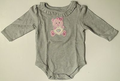 Baby Girls Creeper Onesis Teddy Bear Heart Bow Textured Graphic Size 0-3 / 3-6 • 1.81£