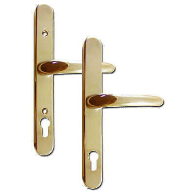 Yale Retro Adjustable 92mm Centres UPVC Lever Door Handles Furniture Gold • 34.95£