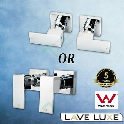 AU55.40 • Buy Shower Basin Water Bath Spout Wall 1/4 Turn Mixer Twin Taps Brass Chrome Square