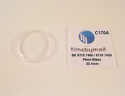$ CDN26.44 • Buy Watch Crystal For SEIKO 5 6119 7460 / 6119 7430 Automatic Plexi-Glass Part C170A
