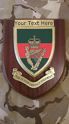 Ulster Defence Regiment UDR Personalised Military Wall Plaque UK Made For MOD • 24.99£