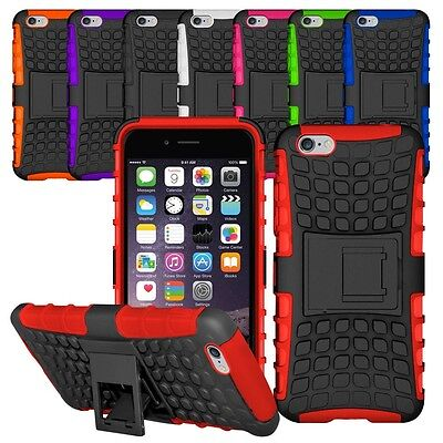 Heavy Duty Shockproof Bumper Hybrid Armor Stand Case For IPhone 5S 6S 7 8 Plus • 3.99£