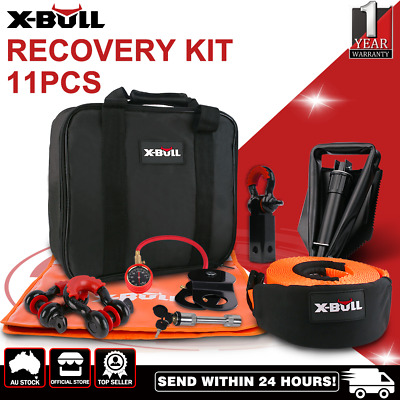 AU149 • Buy X-BULL Winch Recovery Kit 11PCS 4WD 4x4 Pack Off Road Snatch Strap Essential