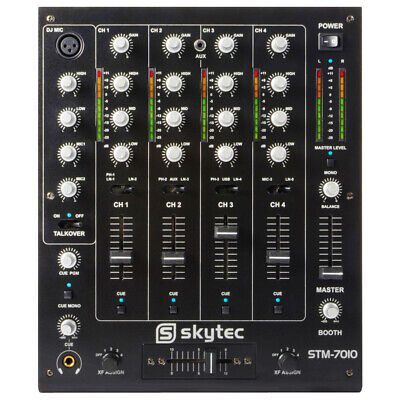 STM-7010 4-Channel DJ MC PA Mixer With Crossover Talkover PC Mac USB Connection • 165£