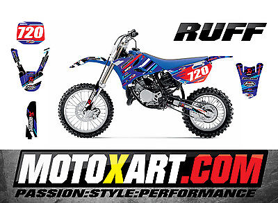 AU149.90 • Buy Yamaha YZ 85 2015 - 2016  Full  Custom Graphic  Kit - RUFF Style Stickers Decals