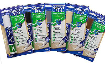 Large Grout Pen Revives & Protects Stained Tile Grout. Available In 9 Colours. • 8.50£