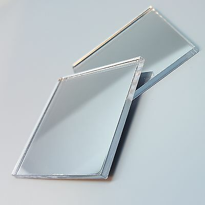 Shatterproof Acrylic Mirror In Square Shape 1 To 10 Inches X 3mm Thick Mirror • 4.49£