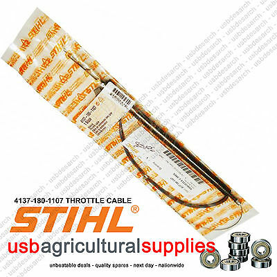 £28.99 • Buy Stihl 4137 180 1107 Throttle Cable Next Day -fits Fs80 R Loop Handle Model Only