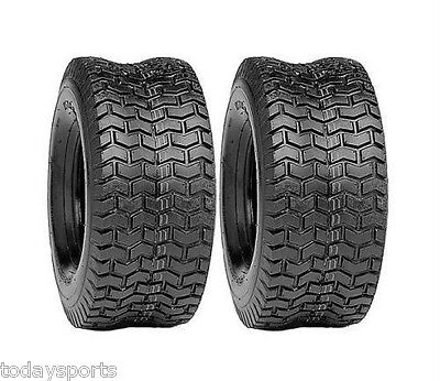 (2) New 15x6.00-6 TURF TIRES 4 Ply Tubeless Toro Wheel Horse Lawn Mower Tractor • 35.43£
