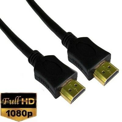 $3.85 • Buy Premium Gold HDMI To HDMI High Speed 1080p LCD HDTV Video Lead Cable 3D 0.5m-10m