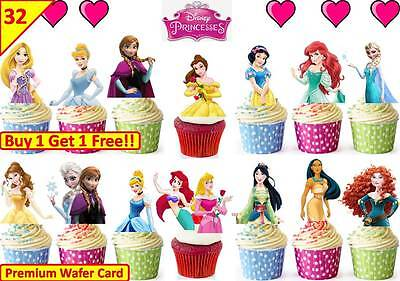 £4.99 • Buy 64 X DISNEY PRINCESS HALF BODY Edible Cup Cake Toppers Premium Wafer *STAND UP*