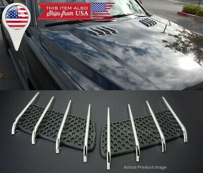 $15.96 • Buy 1 Pair Euro Hood Engine Vent Grille Grill Louvered Scoop Cover Panel For Ford