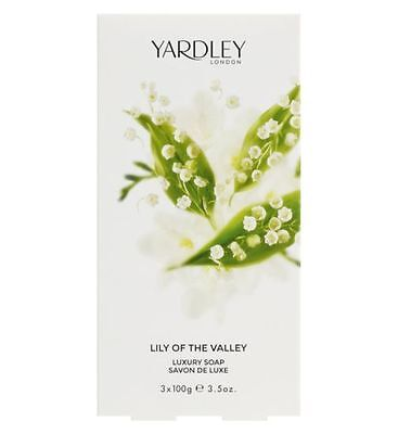 Yardley Lily Of The Valley Luxury Soap 3x Net 100g  • 10.99£