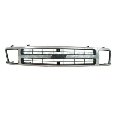 $166.95 • Buy 95 96 97 Chevy S-10 Blazer Front Grill Grille Assembly Chrome GM1200383 15672329