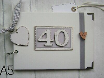 £13.20 • Buy PERSONALISED 40TH Birthday .A5  SIZE. PHOTO ALBUM/SCRAPBOOK/MEMORY BOOK.