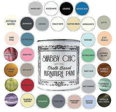 £21 • Buy Shabby Chic Chalk Based Furniture Paint -  Matte Finish Water-based 1 Litre