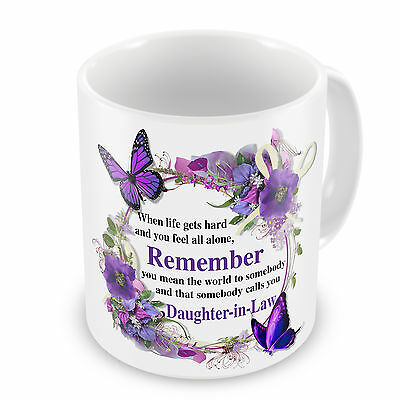 That Somebody Calls You Daughter-In-Law Novelty Floral Gift Mug • 7.99£