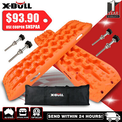 AU98.90 • Buy X-BULL Recovery Tracks Sand Trucks With Bag And 4PC Mounting Pin 4X4 4WD 10T