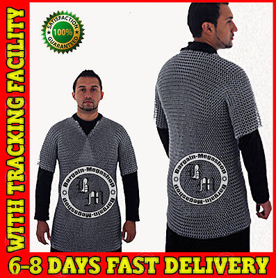£50.99 • Buy Aluminium Chainmail Shirt Butted Aluminum Chain Mail Haubergeon Medieval Armor X