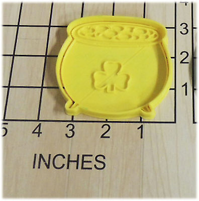 £2.89 • Buy Pot Of Gold Shamrock Saint Patrick's Day Fondant Cookie Cutter And Stamp #1090