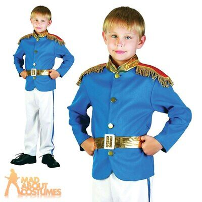 Boys Prince Charming Costume Childs Royal Fairy Tale Book Week Day Fancy Dress • 9.99£