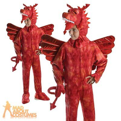 £18.49 • Buy Child Red Dragon Costume Shrek Book Week Day Fancy Dress Outfit Kids