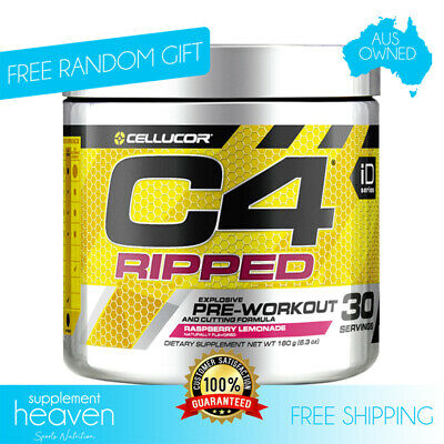 AU49.90 • Buy Cellucor C4 Ripped - Fat Burning Pre Workout 30 Serves C4 Gen 4 Amazing Taste