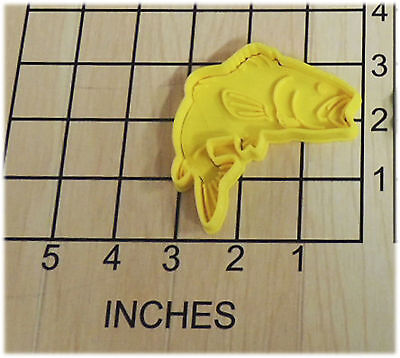 Bass Fish Shaped Fondant Cookie Cutter And Stamp #1121 • 3.06£