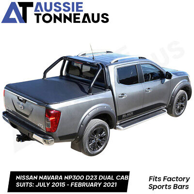AU271 • Buy Clip On Soft Cover Tonneau For Nissan Navara NP300 D23 With Factory Sports Bars