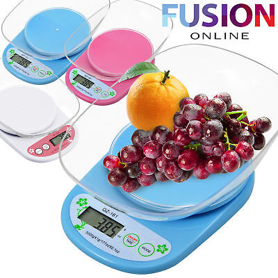 Digital Kitchen Scale With Measuring Bowl 5kg Lcd Electronic Cooking Food Scale • 8.89£