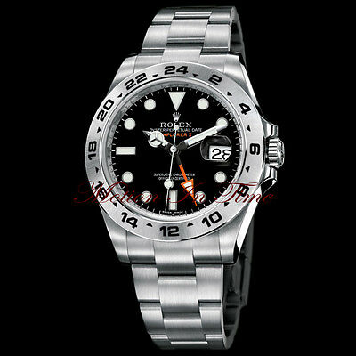 $ CDN13232.38 • Buy Rolex Explorer II Black  Orange Hand  Stainless Steel 42mm Anniversary 216570