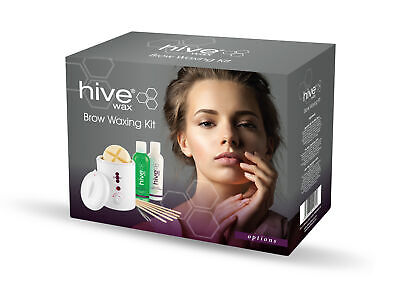 Hive Options Petite Brow Eyebrows Face Waxing Kit Professional Wax Heater Warmer • 28.99£