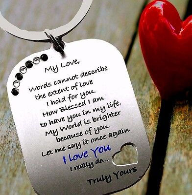 AU9.13 • Buy Gifts For Him Mens Her Valentines Day Womens Love Romantic Heart Husband Wife K1