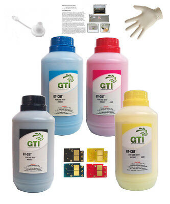 £45 • Buy Compatible For HP 504A CP3525 Refill Kit (CE250A, CE251A, CE252A, CE253A) Toner