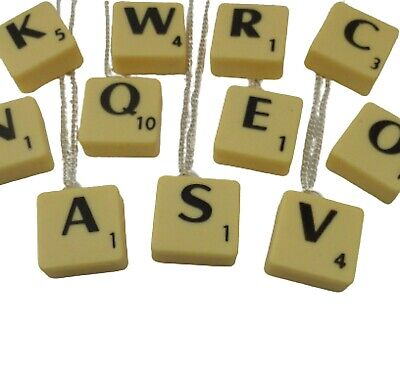 £4.97 • Buy SILVER NECKLACE Classic Scrabble Letter Charm Pendant Birthday Gift + Bag