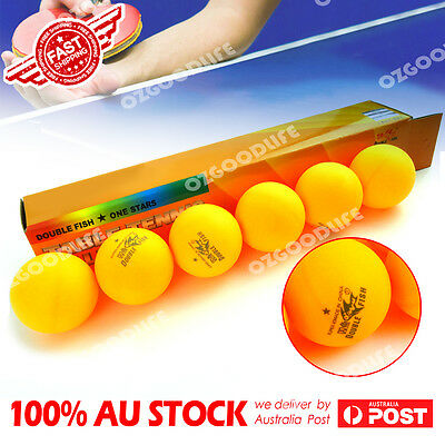 AU15.89 • Buy 6X Double Fish 1-Star 40mm Orange Table Tennis Balls Are High Quality AU Stock