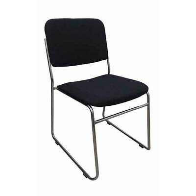 AU99 • Buy Visitors Sled Base Stackable Chair Board Room Meeting Waiting Rod Fabric Black