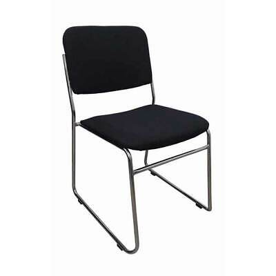 AU99 • Buy Visitors Sled Base Stackable Chair Boardroom Meeting Waiting Rod Fabric Black