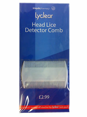 Lyclear White Double Sided Nit Comb For Head Lice Detection Comb Kids Pet Flea • 1.29£