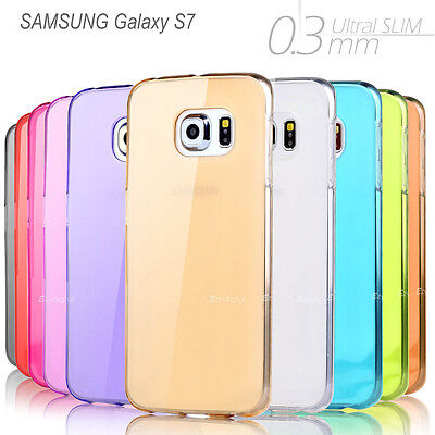 AU5.95 • Buy Ultra Slim High Gloss Frosted Crystal Gel Case Cover  -- Samsung S7 Edge S8 Plus