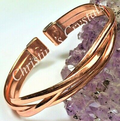£8.99 • Buy MAGNETIC Solid Copper CROSSOVER Bracelet - Healing Arthritis Pain Relief ( MB94)