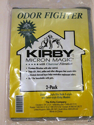 Kirby Universal 2/PK Odor Fighter W/Charcoal Filtration Pet Owners Bags 202816 • 5.01£