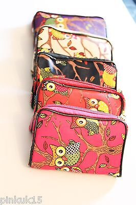 Womens Kids Owl Colourful Coin Purse Key CreditCard Holder Wallet Pouch Bag • 1.99£