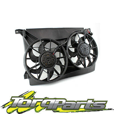 AU162.40 • Buy Twin Thermo Fans Suit Au Falcon Ford Fairmont Radiator Assembly 6cyl V8