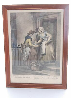 F.Wheatley Cries Of London Early 19th Century Plate 05 Colour Print • 18.90£