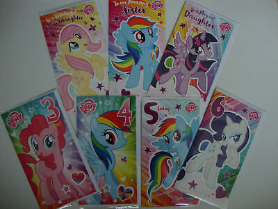 My Little Pony Birthday Greeting Card Age 3 4 5 6 Daughter Granddughter Sister • 2.79£