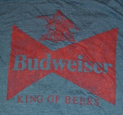 $ CDN17.42 • Buy Budweiser King Of Beers T-Shirt Mens Tee Officially Licensed Graphic Top Size M