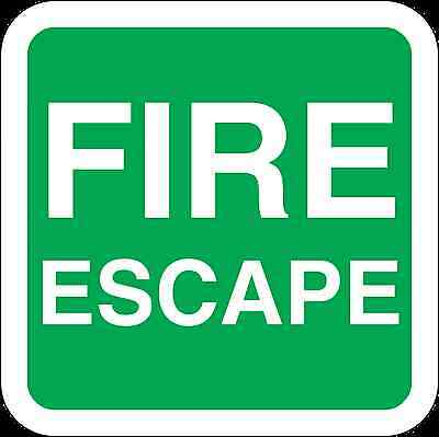 Health And Safety Green Safety Sticker Fire Escape Sticker • 1.73£