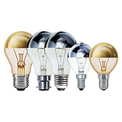 Crown Silver Or Gold Top Dimmable Bayonet & Screw Fitting Light Bulbs • 7.85£