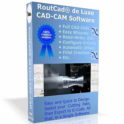 $169.99 • Buy CAD CAM Software RoutCad To Generate G-Code For Mach 3, EMC2 For CNC Lathe CDROM